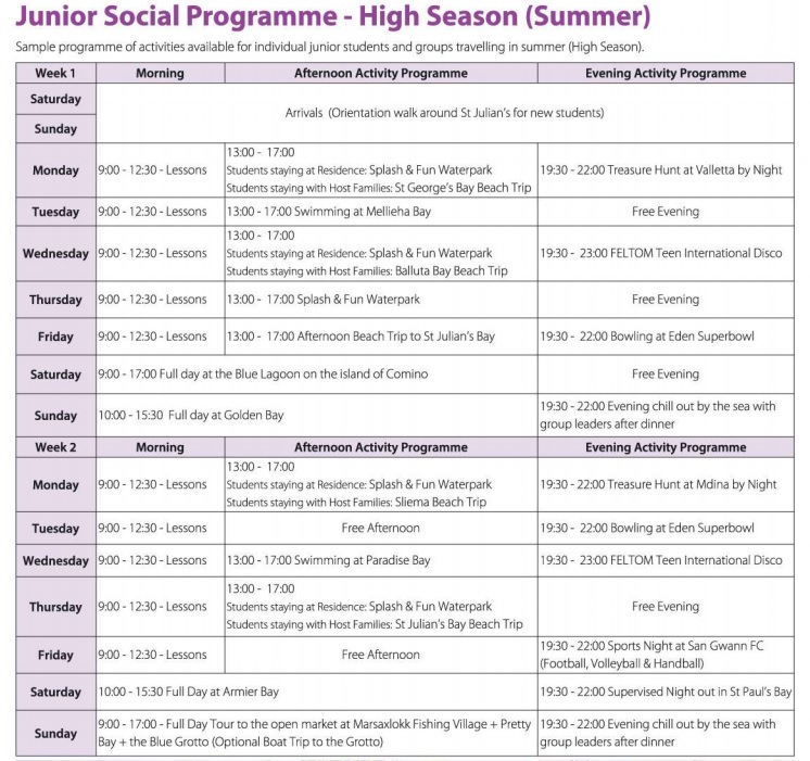 junior-leisure-programme-timetable